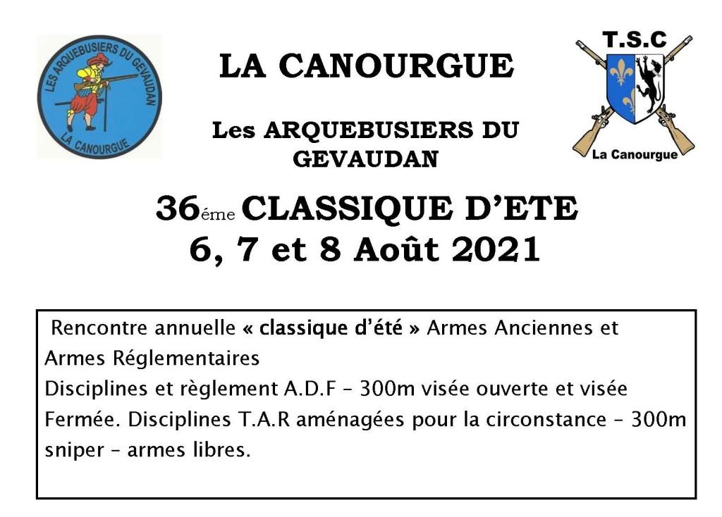 36ème Classique d'été du 6 au 8 août 2021 à La Canourgue.