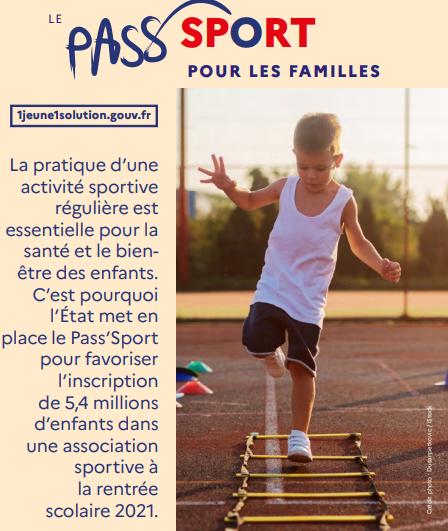 Le dispositif Pass'Sport : une aide pour la pratique d'une activité sportive régulière de votre enfant